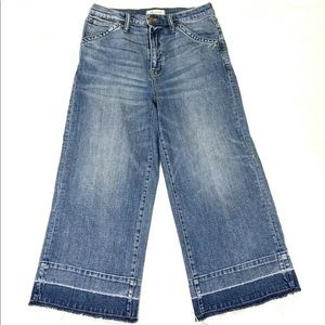 Madewell Wide Leg Crop Boho Style Jeans